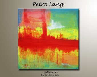 """Painting """"JULINIGHT"""" Contemporary Art, Modern Abstract, Urban art, Canvas Art, Wall Art, Home Decor"""