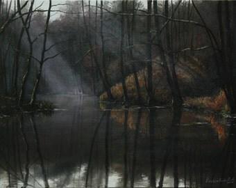 "Rays of Hope / Промені надії - painting, oil on canvas, 40 x 55 cm / 15.7"" x 21.7"""