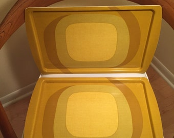 Set of Seven Molded Laminate Serving Trays