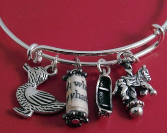 Catcher in the Rye Recycled Book Page Wire Charm Bracelet