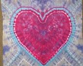 Tie Dye Tapestry,Heart,