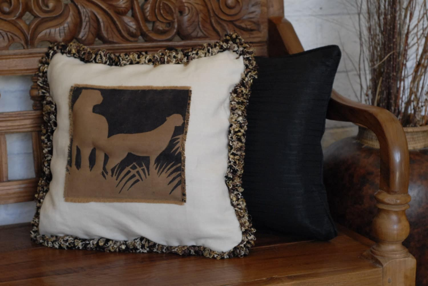 Throw Pillows With Wildlife : african cats animal wildlife decorative throw pillow with
