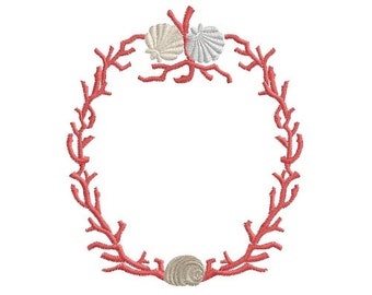 branching Coral machine embroidery design