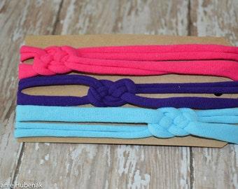 Set of 3: Skinny Sailor Knot Headbands