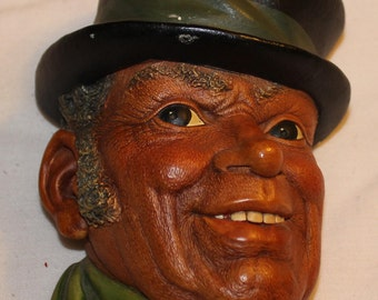 """Bosson Chalkware Head -- """"Paddy"""" from 1962"""