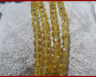 Spring washers 4 mm Topaz yellow abacus 75 PCs