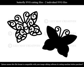 Butterfly SVG cutting files for personal & commercial use - Butterfly SVG cutting files – Butterfly svg's - JPG files also available