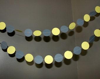 Yellow and Grey Circle Garland 7ft