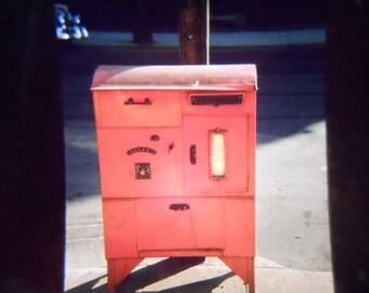 Original 35mm Slide Abstract Canada Postal Box Mail Box Street Sceen