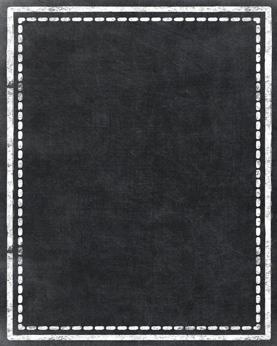 Items Similar To Chalkboard Printable Blank Board With