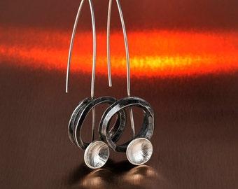 Silver earring KATA105A,Sterling Silver Earrings,Oxidized Silver Earrings,Handmade Silver Earrings, Silver Jewelry