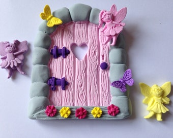 Fairy door and fairies.