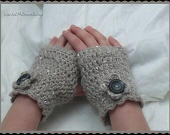 warm crochet wrist gloves