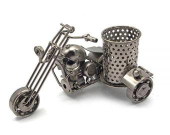 "TECHNO-ART penholder ""Motorcycle"""
