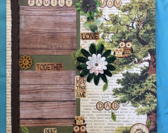 """Premade """"Family"""" scrapbook page"""
