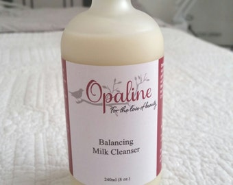 Opaline Balancing Milk Cleanser. Vegan, organic cleanser for dry, sensitive, normal and combination skin.
