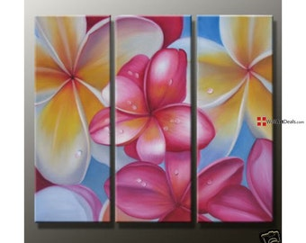Frangipanis Floral Art Canvas oil painting Wall Art Decor Artwork