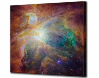 The Orion Nebula Canvas Print Hubble Telescope Framed Ready To Hang Wall Art Picture