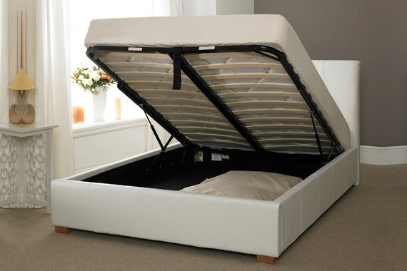White Ottoman Bed 570 x 380