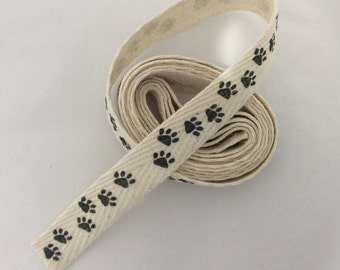 Paw Print Cotton Twill Tape