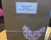 Personalised Hen Party Gift Bag