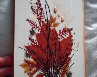 Canadian Pressed Flowers Wall Decoration