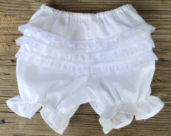 Baby Panties, white diaper cover, frilly panties