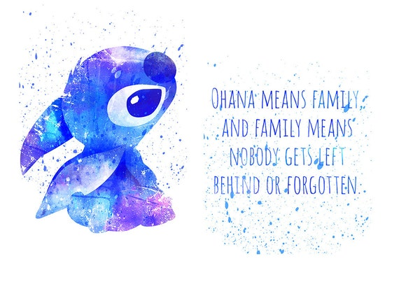 Ohana Means Family Quote Tattoo: Lilo And Stitch Ohana Means Family Disney Fan Art By