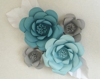 Custom Paper Flower for Backdrop or Decorations for Weddings, Bridal Shower, Baby Showers
