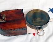 "Antique 1912 Titanic Nautical Pocket Compass Poem compass with 3"" Titanic Pocket Compass gift Compass nauticail compass"