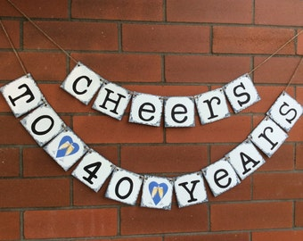 Birthday Banner. Chipboard Banner. Birthday Decor. Cheers. Party Decor. Birthday Sign. Cardstock. Photo Prop.