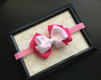 Big Sister or Little Sister Hair bow - Girls Hair Accessory - Big Sister Hair Bow - Little Sister Hair bow