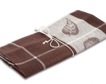 Linen Tea Towel, Brown Linen Kitchen Towel, Kitchen Towel, Linen Gift