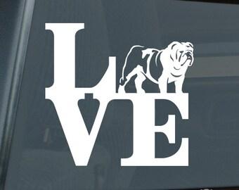 Love British Bulldog Park Die Cut Vinyl Sticker - 343