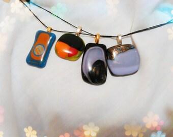 Upcycled glass pendants
