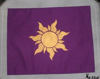 Tangled Rapunzel Kingdom Corona Flag Sun light Gold purple Handmade [Disney, for costume, cosplay, children ,party, present, christmas,...]