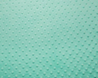 1 Yard Opal Shannon Fabrics Dot Minky Fabric - Shannon Fabrics Cuddle Dimple Minky Fabric ONE YARD aqua teal