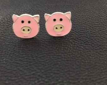 Childrens piggy face earrings