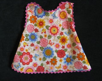 Modern Floral Sundress.  Size 6 to 9 months.
