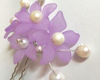 Lavender Floral Hair Pin