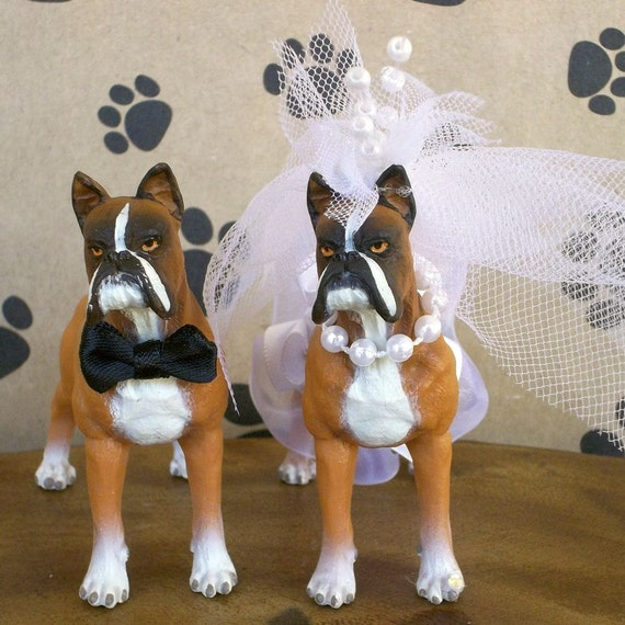 wedding cake topper with boxer dog wedding cake topper cake topper boxers 26654