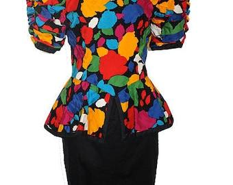 PRINTED PARTY - Peplum Dress