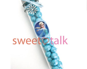 FROZEN Party Favour - Disney Elsa, Candy Test Tube Bomboniere, with Chocolates. Perfect for Frozen themed Birthday Parties