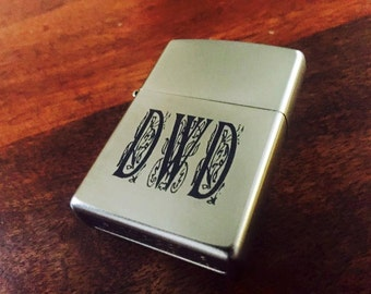 Laser Engraved Zippo Lighter / Wedding Gift / Anniversary Gift / Birthday Gift / Christmas Gift / Personalized Gift
