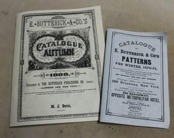 1870-71 Reprint Butterick Pattern Catalog
