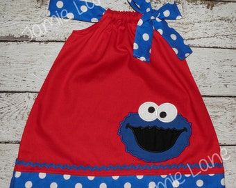 Cookie Monster Pillowcase Style Dress