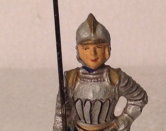 Elastolin scarce pre war Medieval Soldier made in Germany