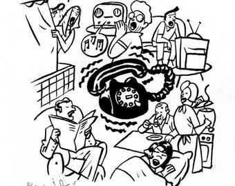 Illustration PHONE CALL