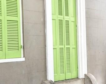 Light Green Door French Quarter, New Orleans