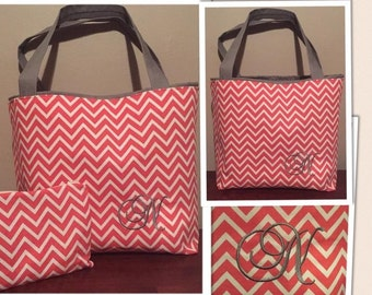 Tote Bag w/ Matching Zipper Pouch